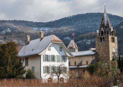 La cure et l'église, © Fabrice Ducrest