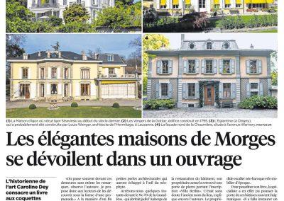 Journal-24h. Les Belles maisons de Morges