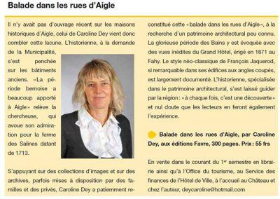 Magazine d'Aigle, 31 juillet 2014