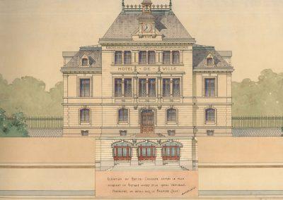 Hôtel de ville avec escaliers à perron