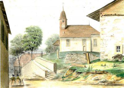 Première illustration de l'église de Champvent
