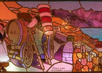 Vitrail de la brasserie de-Saint-Laurent par Pierre Chiara